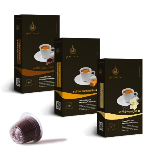 nespresso compatible coffee capsules compatible pod mini flavor bundle 30. Black Bedroom Furniture Sets. Home Design Ideas