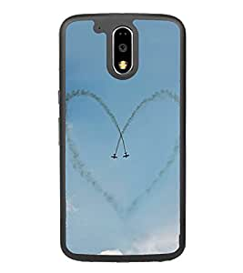 Heart Formation Jets 2D Hard Polycarbonate Designer Back Case Cover for Motorola Moto G4