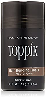 Toppik Hair Building Fibers, Medium Brown, 0.42oz/12g