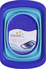 Squish Over-The-Sink 6-Quart Collapsible Colander, Blue