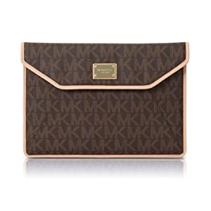 "Michael Kors MK Monogram Slim Sleeve for Macbook Air 11"" Brown"