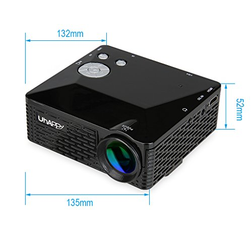 Uhappy mini led projector for iphone ipad home theatre for Led projector ipad