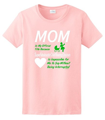 Funny Mom My Official Title Ladies T-Shirt 3Xl Light Pink front-938575