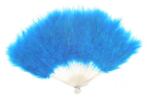 Zucker Feather Products Large Marabou Feather Fan Dark Turquoise