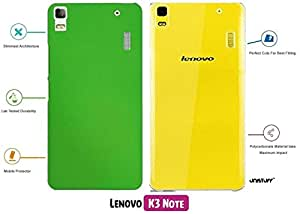 For Lenovo K3 Note[COMBO OFFER]: Unistuff™ Matte Finish Hard Case Back Cover for Lenovo K3 Note [SLIM FIT][FREE SHIPPING] (Dark Blue, Transparent)