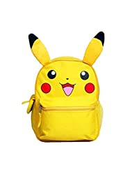 "Pokemon Pikachu Mideum 12"" Inches Backpack With 3D Ear - BRAND NEW - Licensed For KIDS"