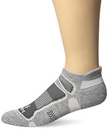 Balega Ultralight No Show Socks, Grey/White, X-Large
