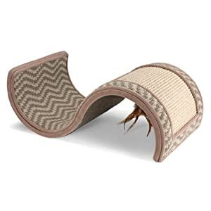 """SmartyKat ScratchScroll Multi Surface Scratcher w/Toy-Assorted-Butter or Stone 19""""X11""""X7"""""""