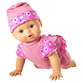 Little Mommy Real Loving Baby Scoot So Cute Doll -Pink