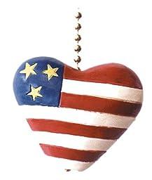 Heart Flag Fan Pull