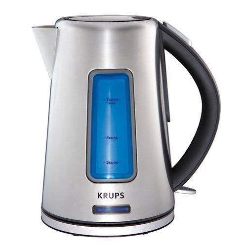 Krups Bw399 Prelude Electric Kettle With Light Water Level Indicator And Stainless Steel Housing, Silver