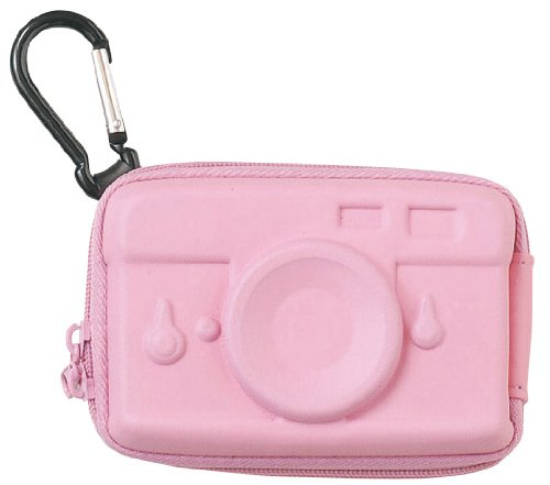 Hard pink digital camera case (camera)