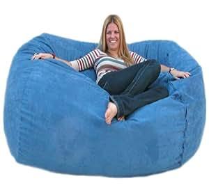cozy sack 6 feet bean bag chair large sky blue kitchen dining. Black Bedroom Furniture Sets. Home Design Ideas