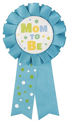 Blue Mom To Be Baby Shower Award Ribbon Polka Dots Party Supplies - 1