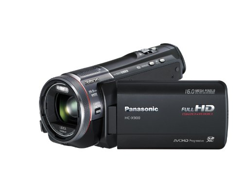 Panasonic X900 Full HD 1920 x 1080p (50p) 3D Ready Camcorder with Built-In Viewfinder - Black (3MOS Sensor, 23x Intelligent Zoom, SD Card Recording, Leica Dicomar Lens and Manual Control Ring) 3.5 inch LCD