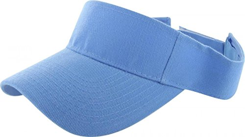 Sky Blue_Plain Visor Sun Cap Hat Men Women Sports Golf Tennis Beach New Adjustable (US Seller)