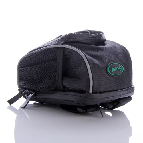 ATC Multi Function / Purposes Outdoor Sport Black Cycling Bike Bicycle Frame Pannier Front Bag Handlebar Bag Case Pouch - Can also use as Mountaineering Bag / Waist bag / Fanny Pack / Rear Seat Rack Trunk Bag, With Rain Cover