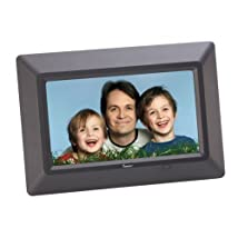 Impecca DFM-720 7 3-in-1 Digital Photo Frame with 16:9 Aspect Ratio Built in Speakers Black