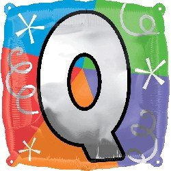 Anagram International Letter Q Quad Package Balloon, 18""