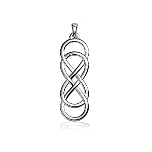 Medium Double Infinity Symbol Charm, Best Friends Forever Charm, Sisters Charm, 6.5mm in Sterling Silver