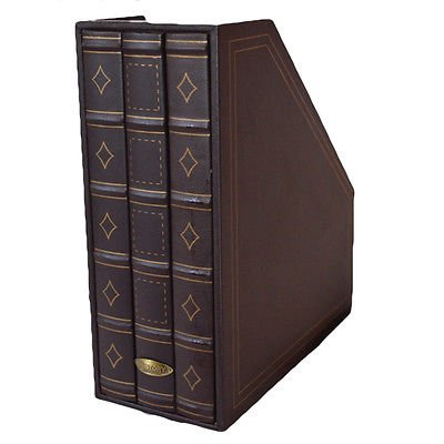 Storage Magazine Rack - Brown Magazine File Holder - Book Storage Organizer