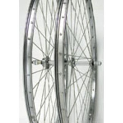 Wheel Master Front Bicycle Wheel 26 x 1 3/8 36H, Steel, Bolt On, Silver