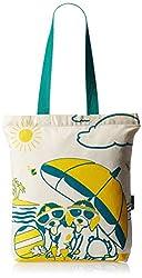 Kanvas Katha Fashion Women's Tote Bag (Ecru) (KKCAMZSS16034)
