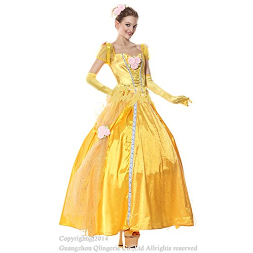 Sexy4Lady Women's Deluxe Disney Belle Costume