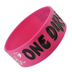 Deep Pink So In Love With One Direction Wristband So In Love With One Direction Bracelet 1 Wide 13 by Hinky Imports