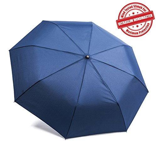 "Kolumbo ""Nonbreakable"" Windproof Umbrellas Tested 55 MPH *BEWARE of Knockoffs** Innovative & Patent Pending, Auto Open Close, Won't Break If Inverted, Durability Tested 5000 Times - Lifetime Guarantee"