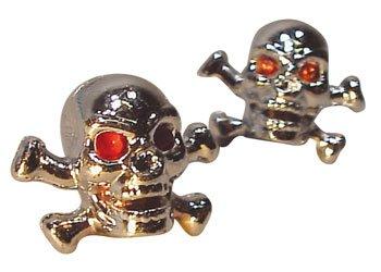 Trik Topz Skull & Bones Valve Caps pr. Chrome 122407