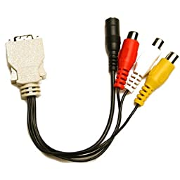 Ikan CA8000W AV Cable for V8000W (Black)