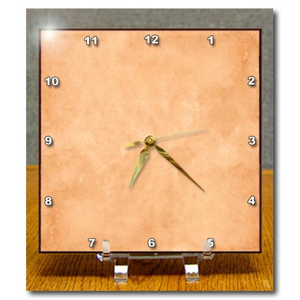 Dc_184573_1 Florene - Designer Colors - Print Of English Tea Stain Tan - Desk Clocks - 6X6 Desk Clock