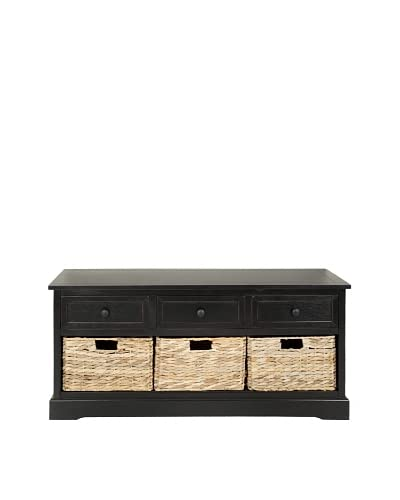 Safavieh Damien 3-Drawer Storage Unit, Distressed Black