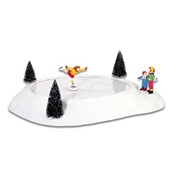 #!Cheap Department 56 Original Snow Village Figure Skater On Ice