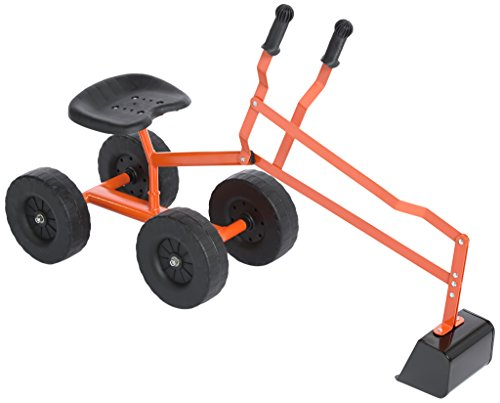Bagger für Kinder, drehbar um 360°, mit einfacher Lenkung, Schalensitz mit 35 cm Sitzhöhe