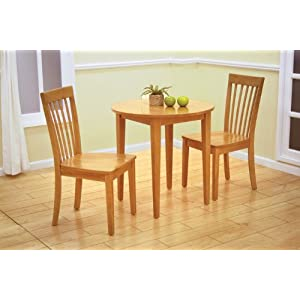 Small Kitchen Tables 30 Round Maple Finish Wood Dining