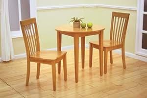 """Amazon 30"""" Round Maple Finish Wood Dining Room"""