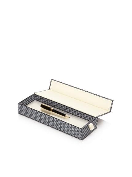 Chopard Andante Ballpoint Pen, Black/Gold Trim, 10.5 cm x 9 mm