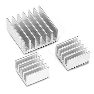 Aukru 3 Set Dissipateurs Aluminium ensemble du dissipateur thermique pour Raspberry Pi 2 Model / B+ / B
