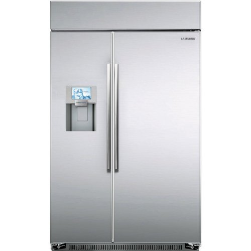 "Samsung Rs27Fdbtnsr 48"" Stainless Steel Counter Depth Bulit-In Side-By-Side Refrigerator"