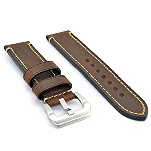 20mm Drak Brown Watch Band Strap Italy Calf Leather Handmade Strap for iwatch and Pebble Time Watch