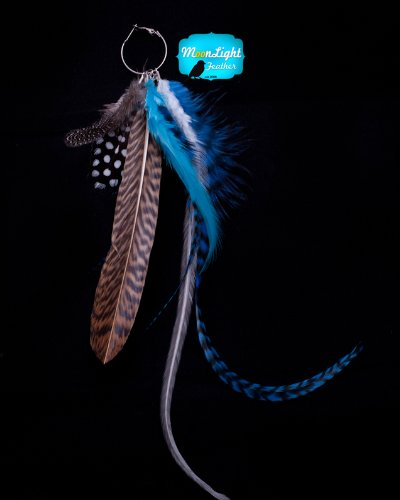 Moonlight Feather Earring Feather Earring Tifffany Style Feather Earring