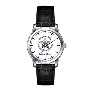 AMS Christmas Gift Watch Women's Vintage Design Leather Black Band Wrist Watch Sheriff¡¯s VVV Badge Wristwatch