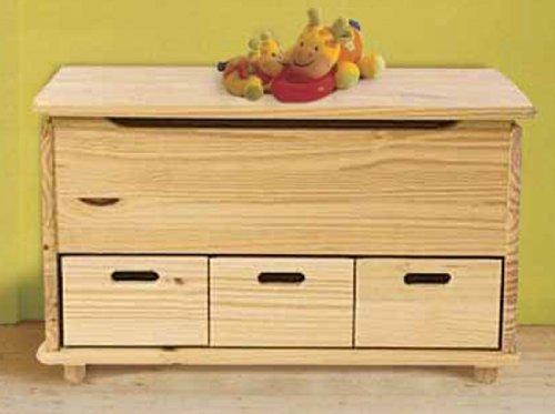 Baule cassapanca legno grezzo con cassetti arredamento e - Cassapanca in legno ikea ...