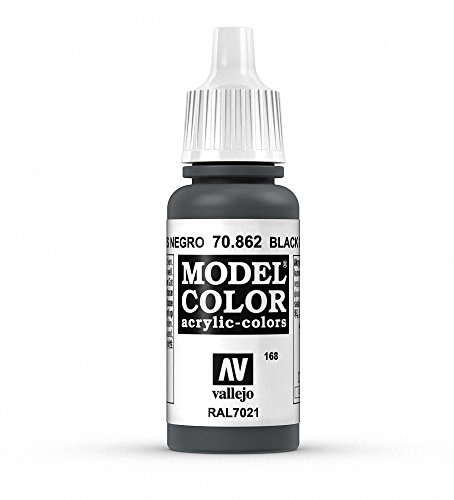 Vallejo Black Grey Model Color Paint, 17ml