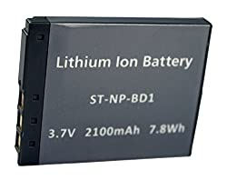 Replacement Battery Sony-BD1 for DSC-G3, TX1, T2, T70, T75, T77, T90. T200, T300, T500, T700, T900