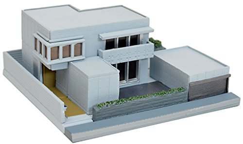 Building Collection 012 3 Modern Housing B3 White Big House Mansion  Realistic Scale Figure Model Kit Toy Base Sidewalk People Wooden Plastic  Takara