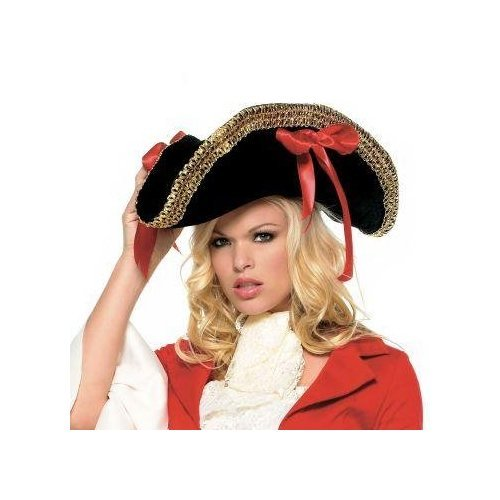 Adult Pirate Hat With Gold Trim