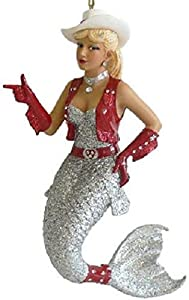 December Diamonds Rhinestone Cowgirl Mermaid Ornament